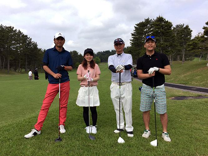 春の日差しの中、ゴルフを堪能。