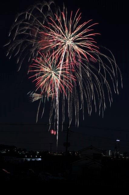 新横浜公園の花火大会を撮影。