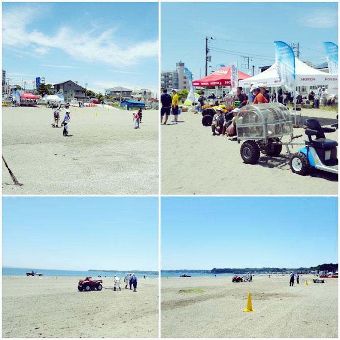 三浦海岸でビーチクリーン活動。