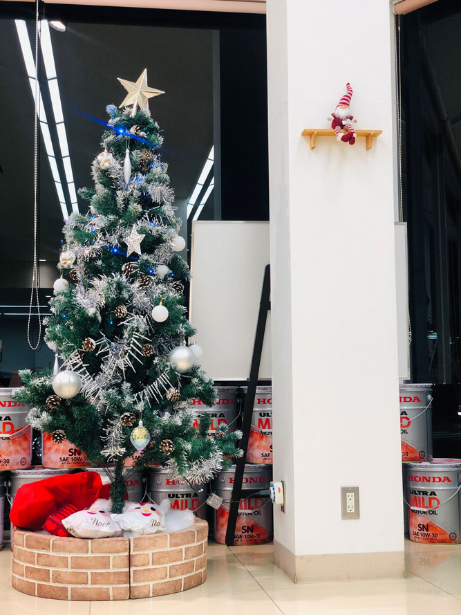 クリスマスバージョンのショールーム♪