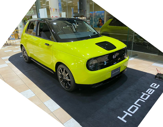 電気自動車Honda eの展示を行いました☆