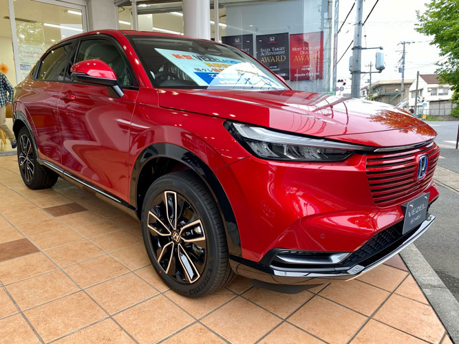 『新型VEZEL』展示車に赤色追加!